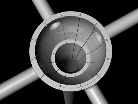3D-Grafik - Wetterstation offen