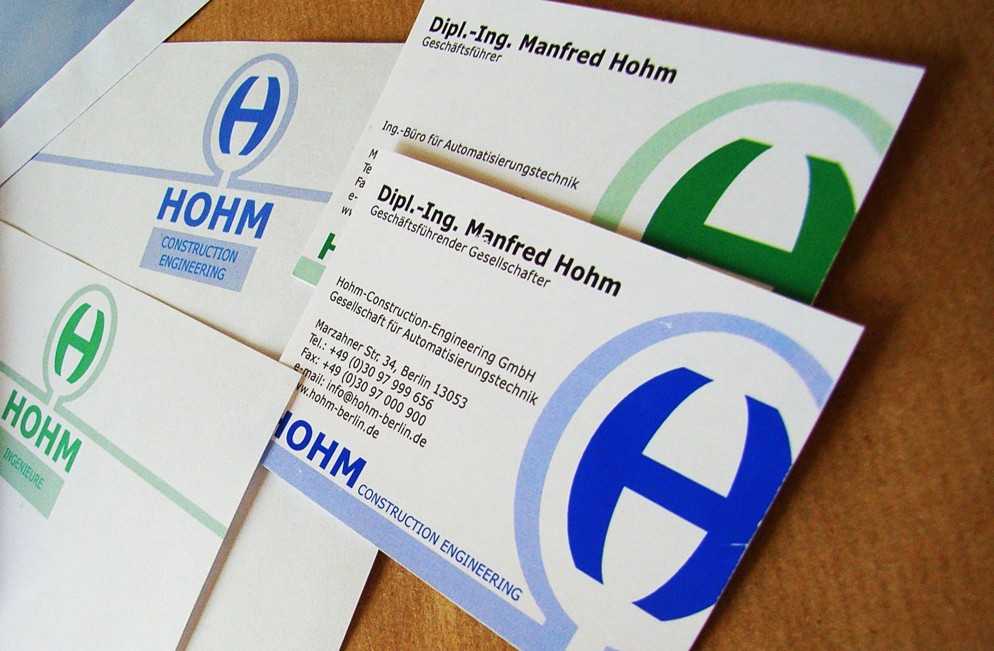 Hohm CI - Geschäftsausstattung