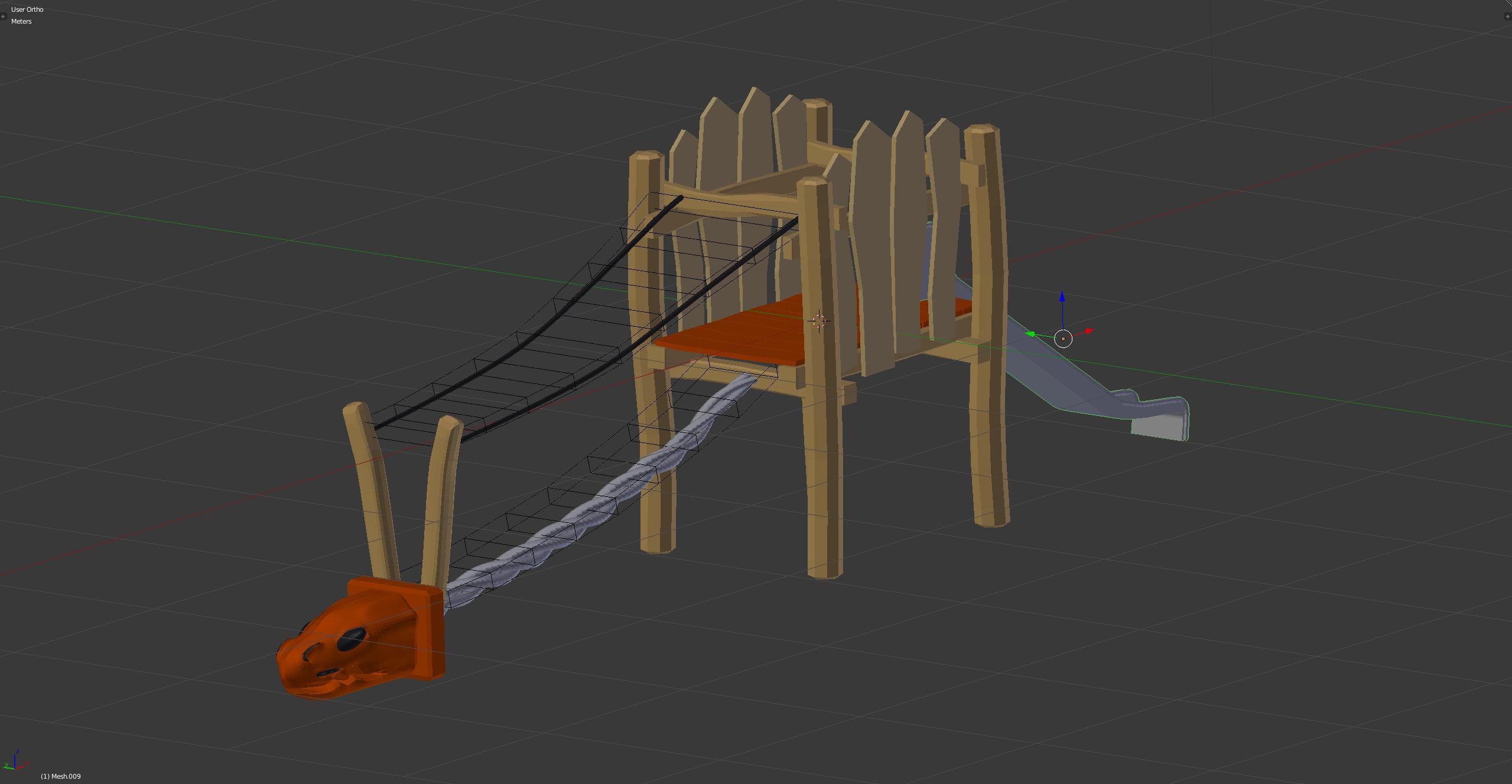 3D-Grafik Blender - Klettergerüst Drachen