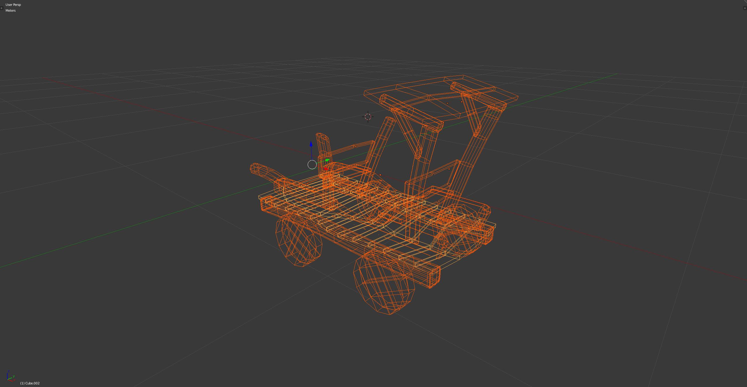 3D-Grafik Blender Wireframe - Holzauto