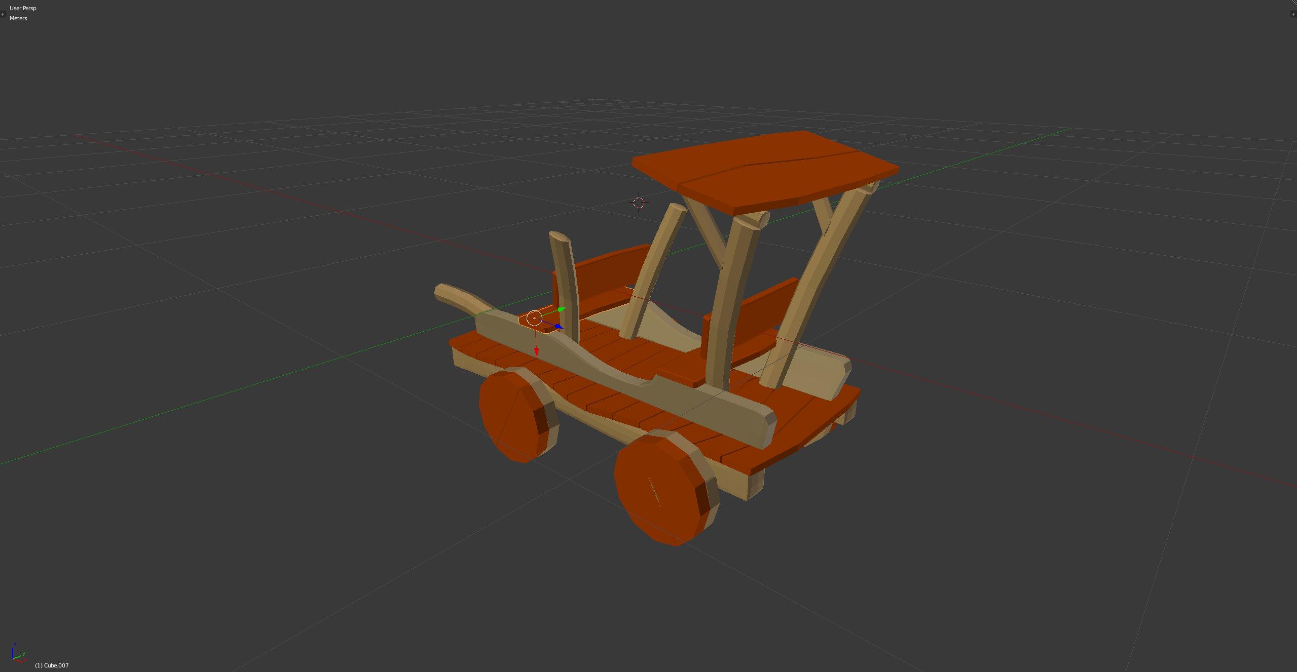 3D-Grafik Blender Wireframe solid - Holzauto