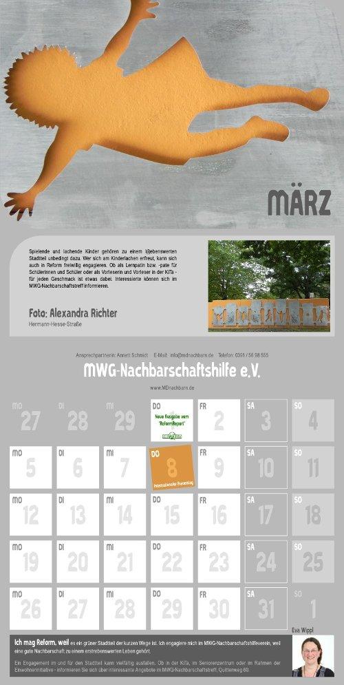 Reform Kalender - März