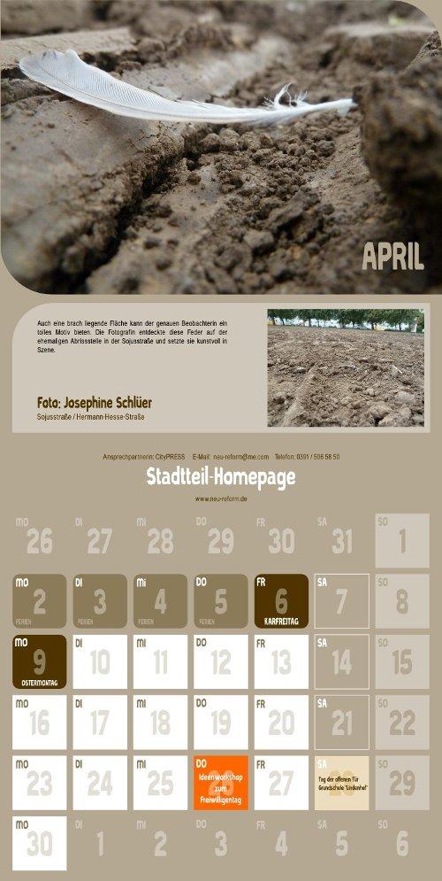 Reform Kalender - April