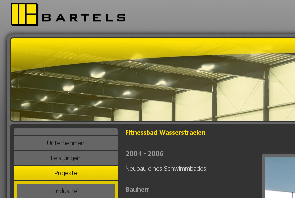 Bartels Architekten GmbH – Hauptmenü-Navigation