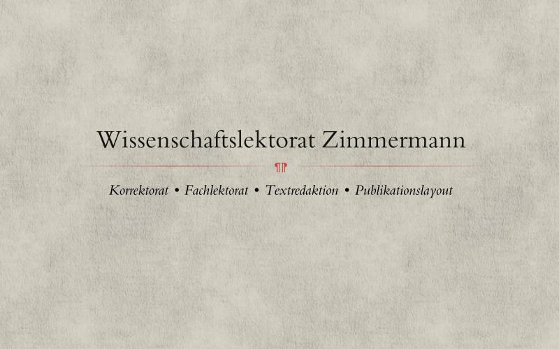 Logo - Wisschenschaftslektorat Zimmermann