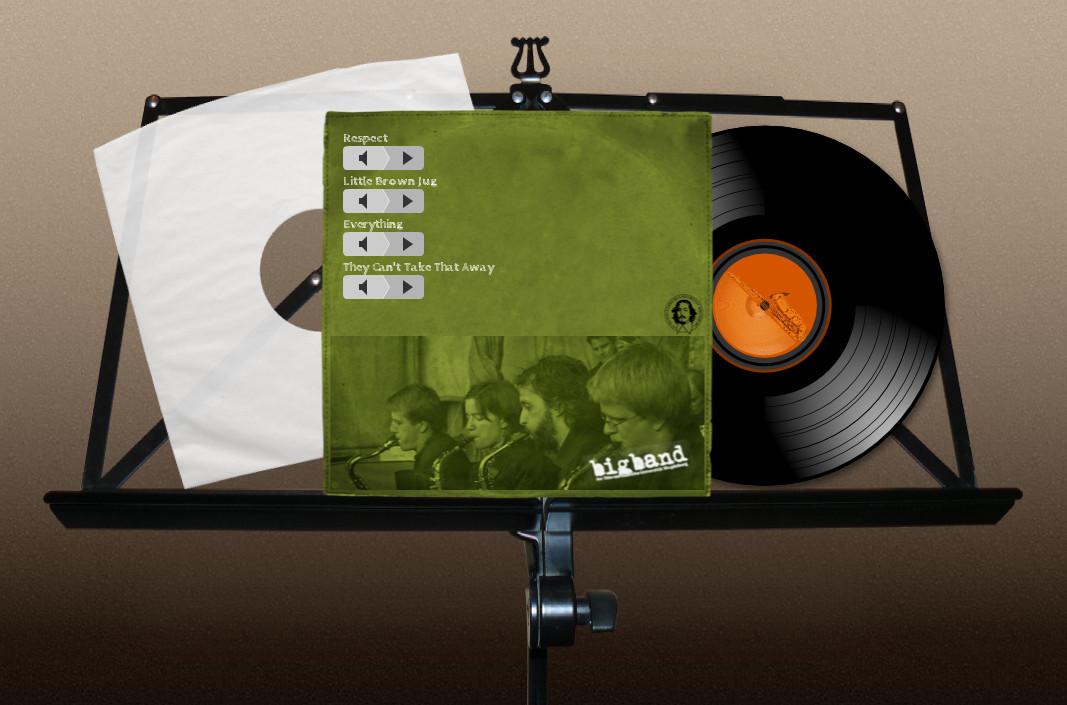 LP-Artwork - Uni Big Band Magdeburg Notenständer