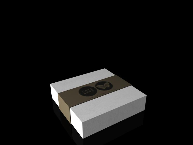 3D-Grafik - Karton mit Banderole