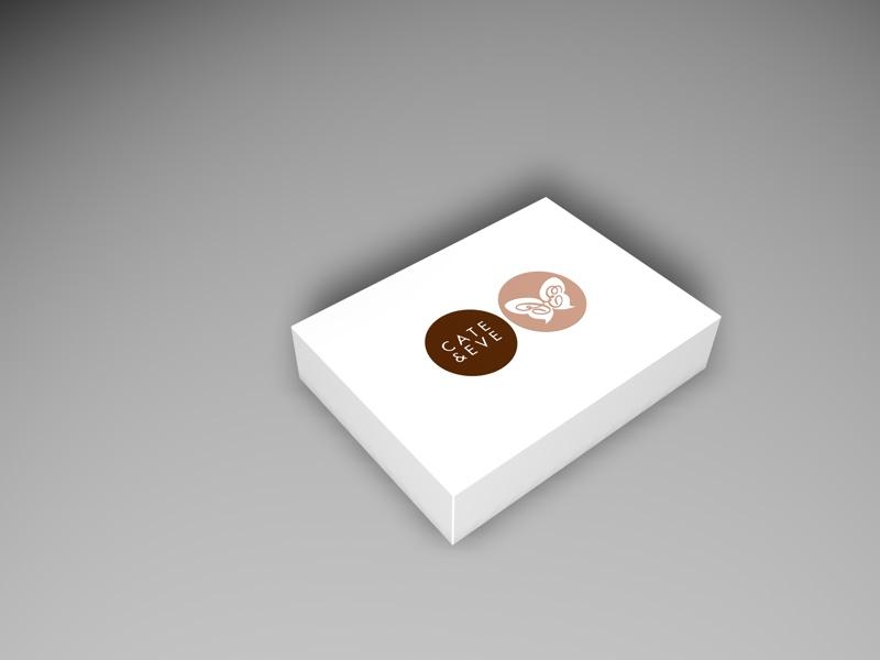 3D-Grafik - Karton mit Logo