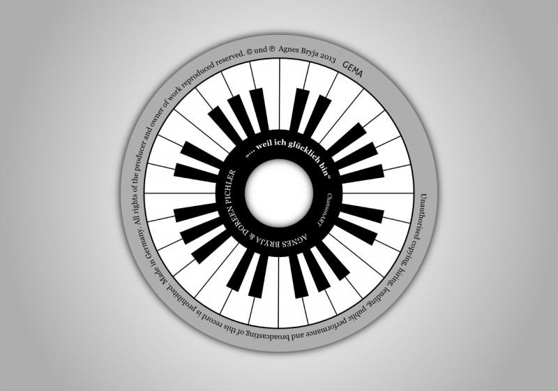 CD-Label - Klaviatur Vektorzeichnung