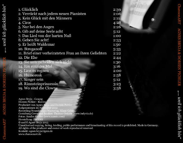 CD-Inlaycard – ChansonART Agnes & Doreen