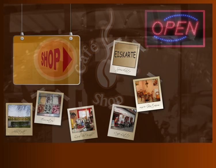 Screenshot - Café Latte Shop - Rastergrafik Schaufenster
