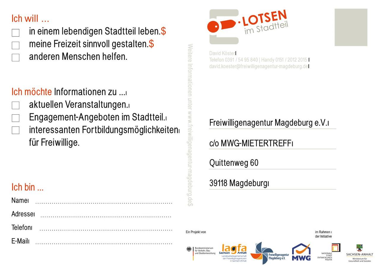 Postkarte - Magdeburg Reform Engagement LOTSEN