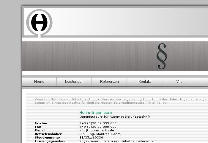 Screenshot - HOHM Impressum