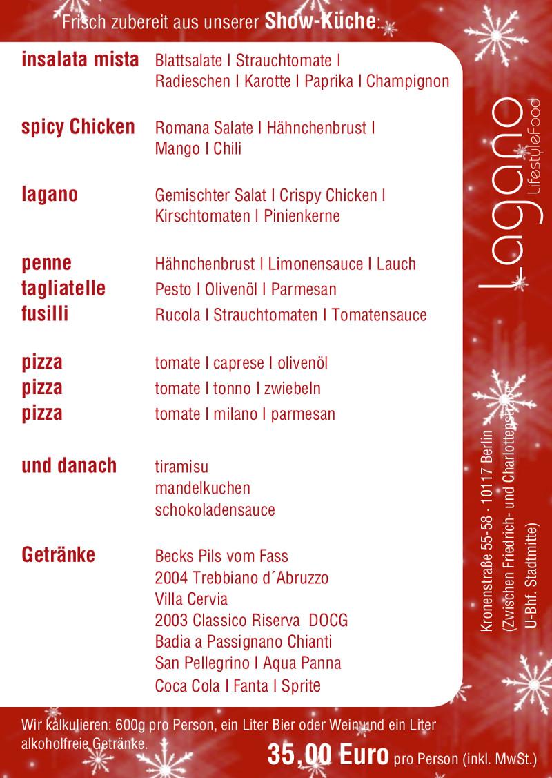 Speisekarte - Restaurant