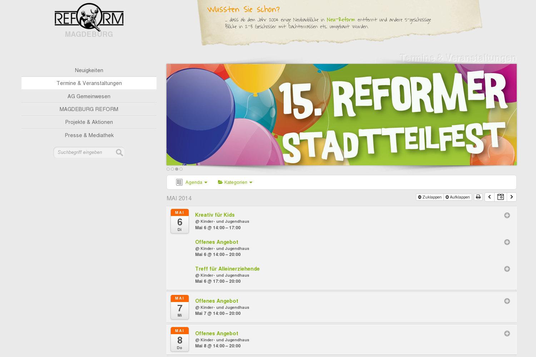 Ausschnitt - Magdeburg Reform Termine