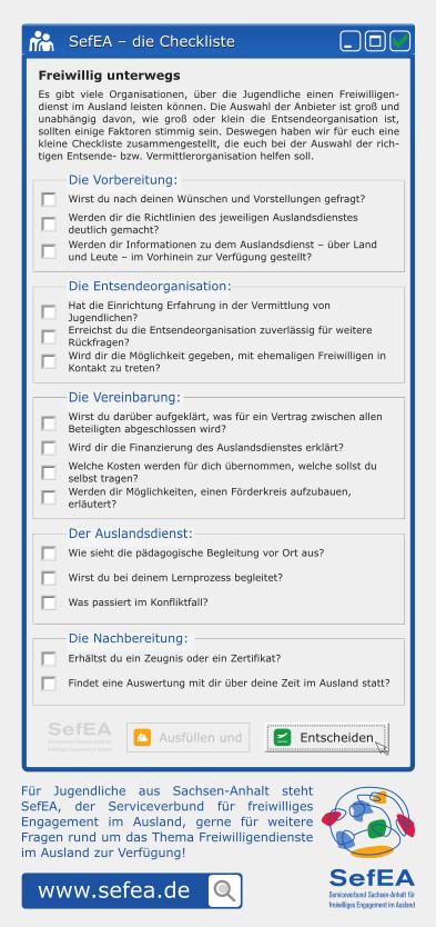 Flyer SefEA - Checklist
