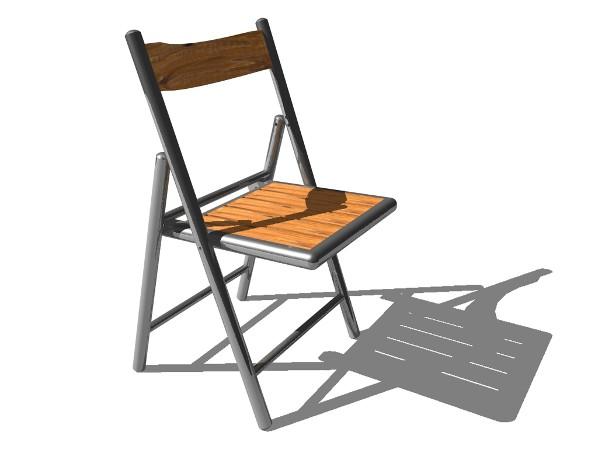 3D-Grafik - Klappstuhl