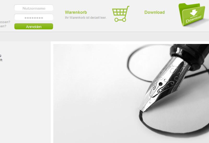 Ausschnitt - Shop Startseite