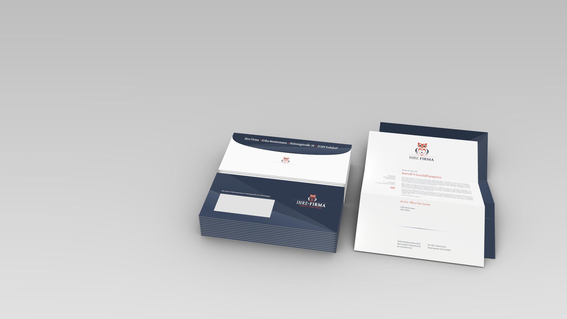 Blender3D-Grafik - Briefpapier