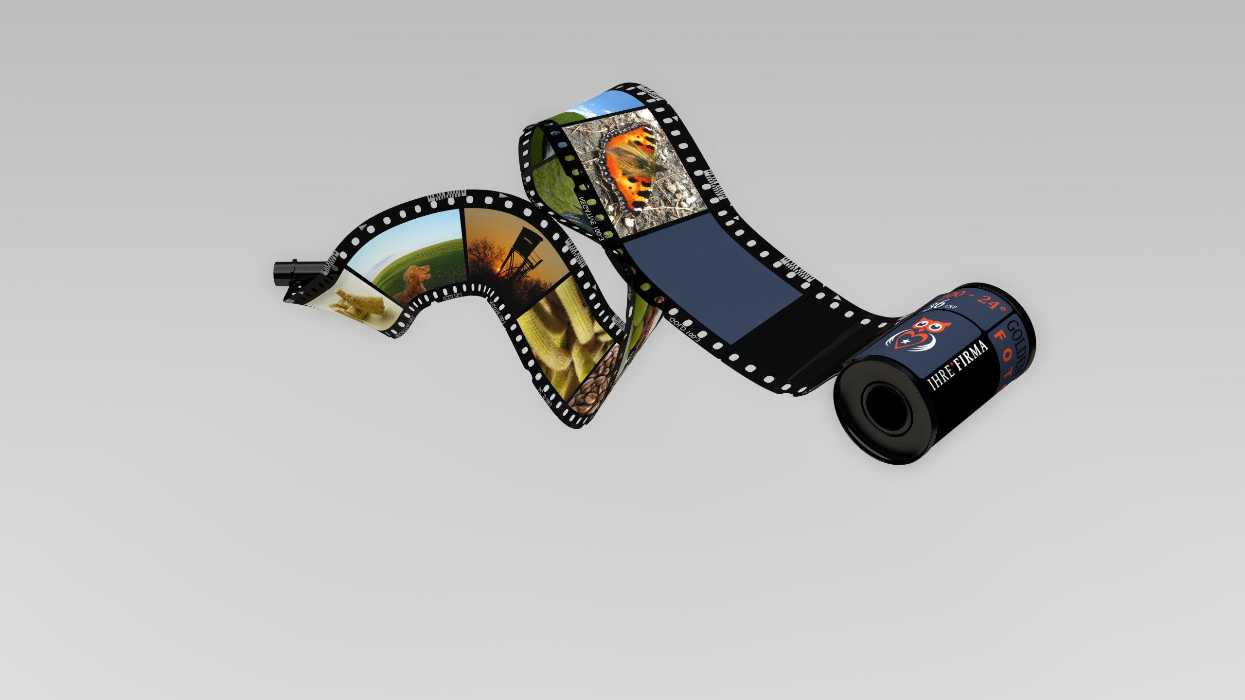 3D-Grafik Blender - Filmrolle