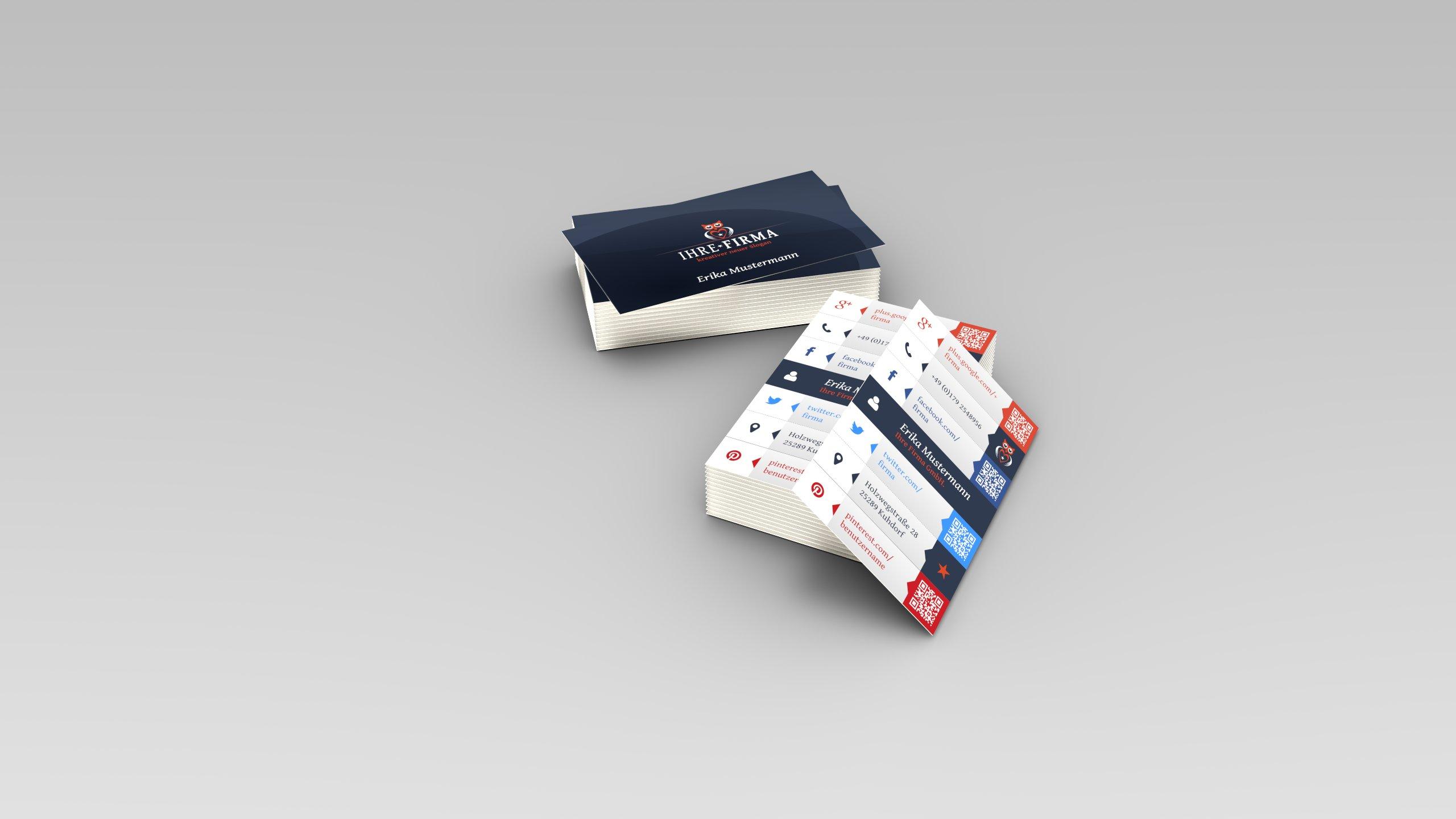 3D-Grafik Blender - Visitenkarten Gestaltung
