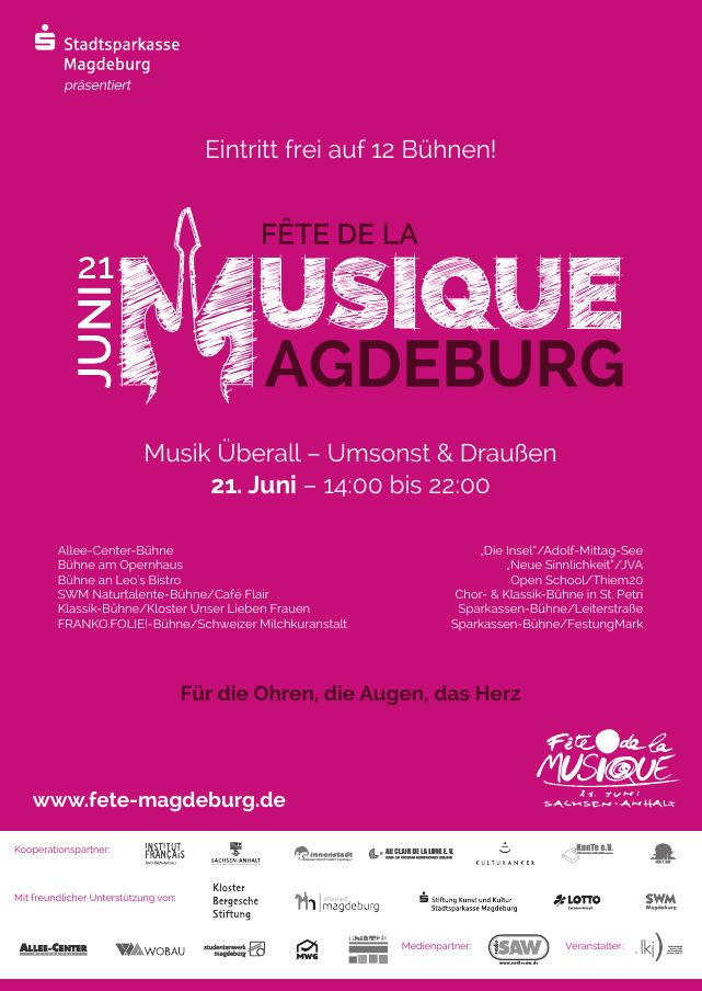 2015 Plakat der Fête de la Musique Magdeburg
