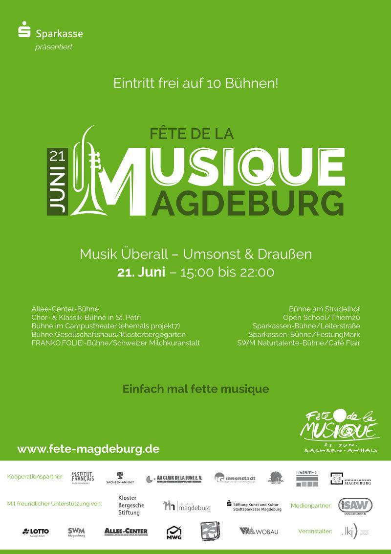 2016 Plakat der Fête de la Musique Magdeburg