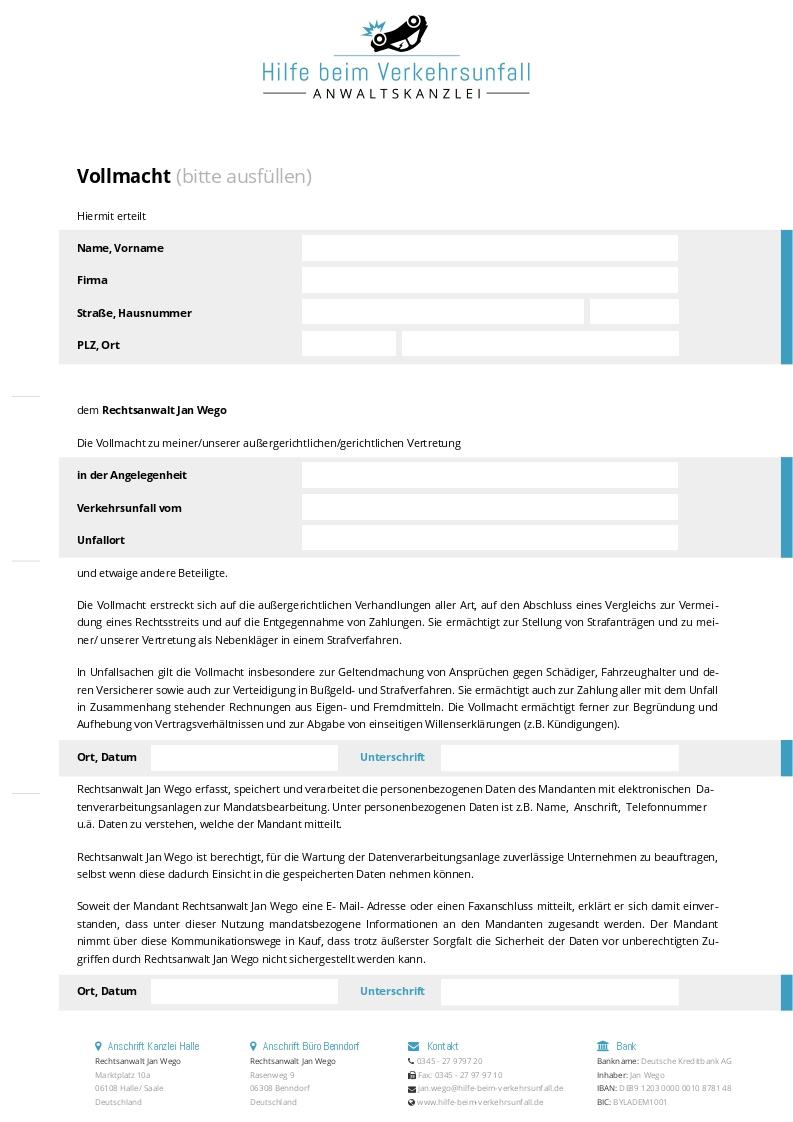 www.hilfe-beim-verkehrsunfall.de Geschäftspapiere – Vollmacht
