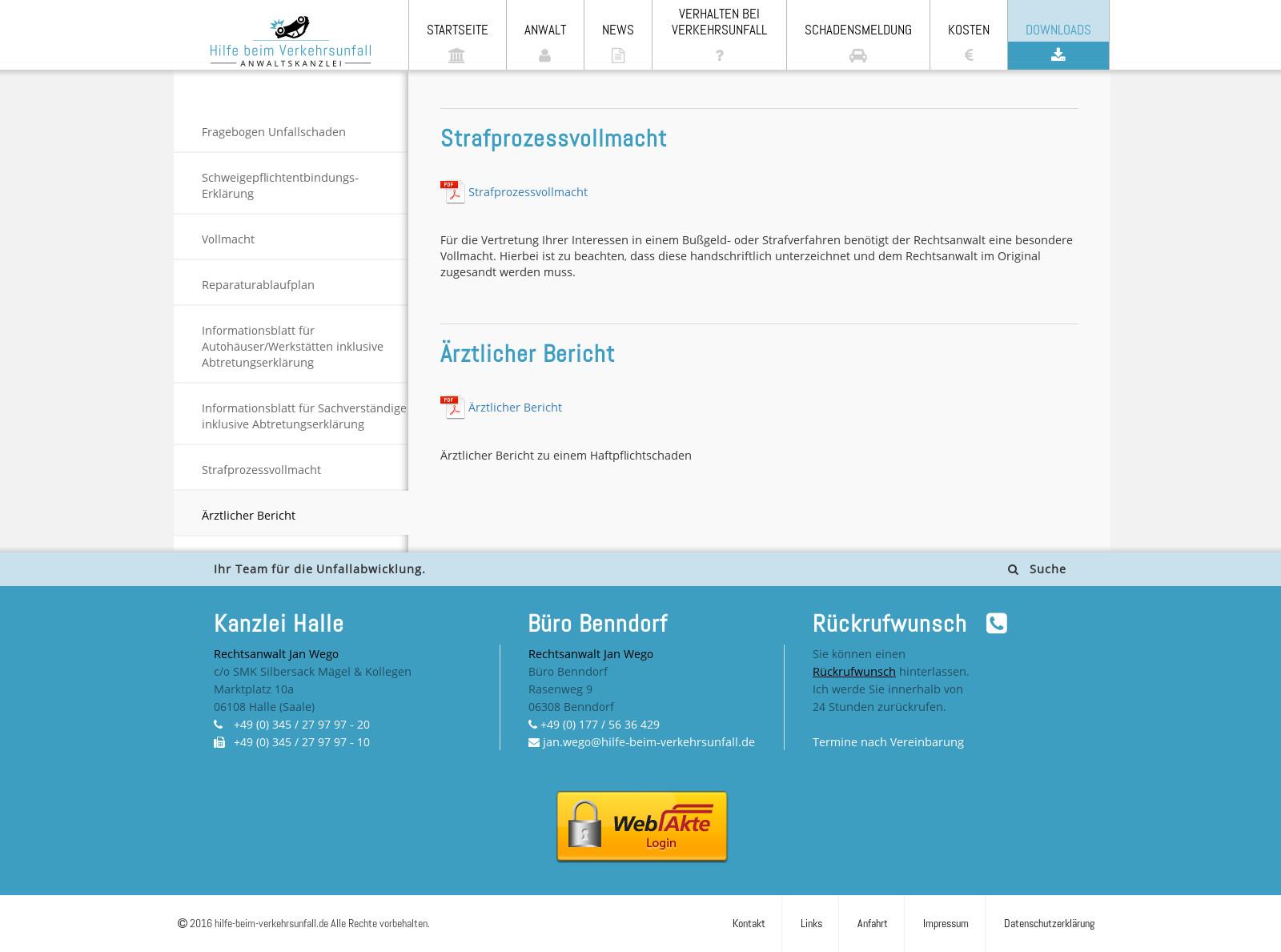 Webseite Downloads – www.hilfe-beim-verkehrsunfall.de