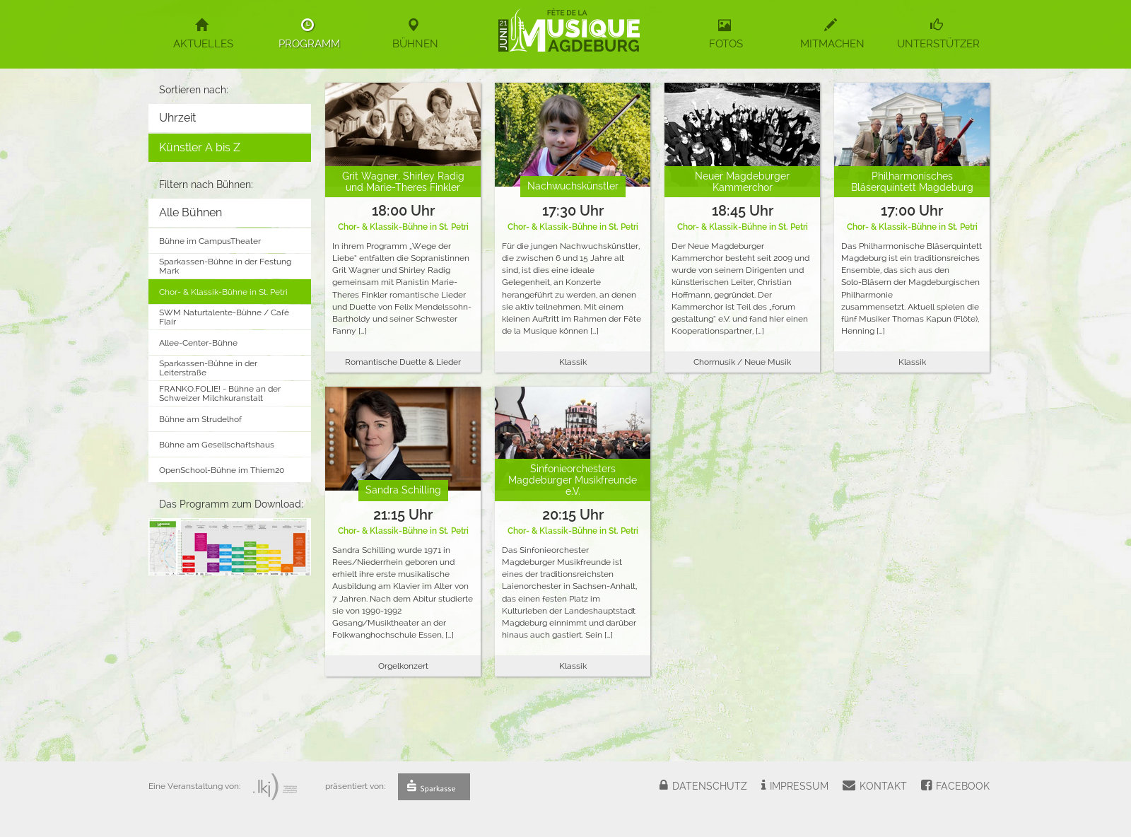 Webseite Programm – FdlM Magdeburg 2016