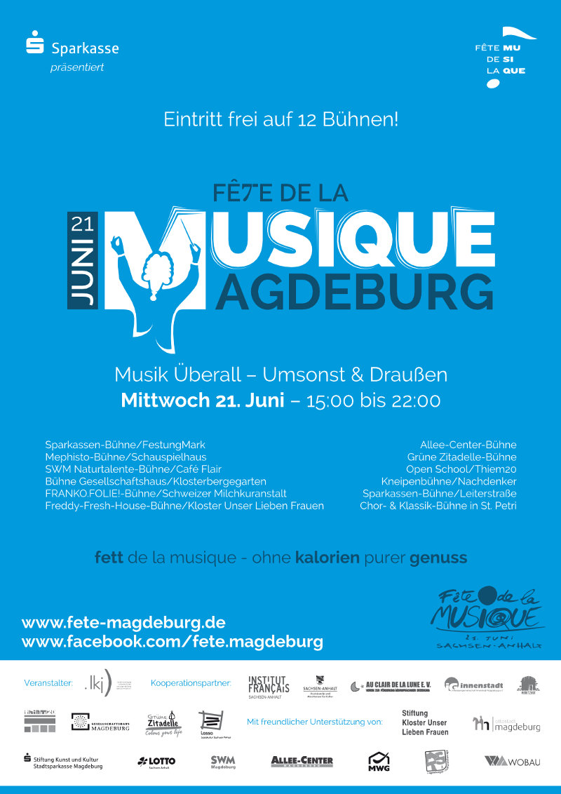 2017 Plakat der Fête de la Musique Magdeburg