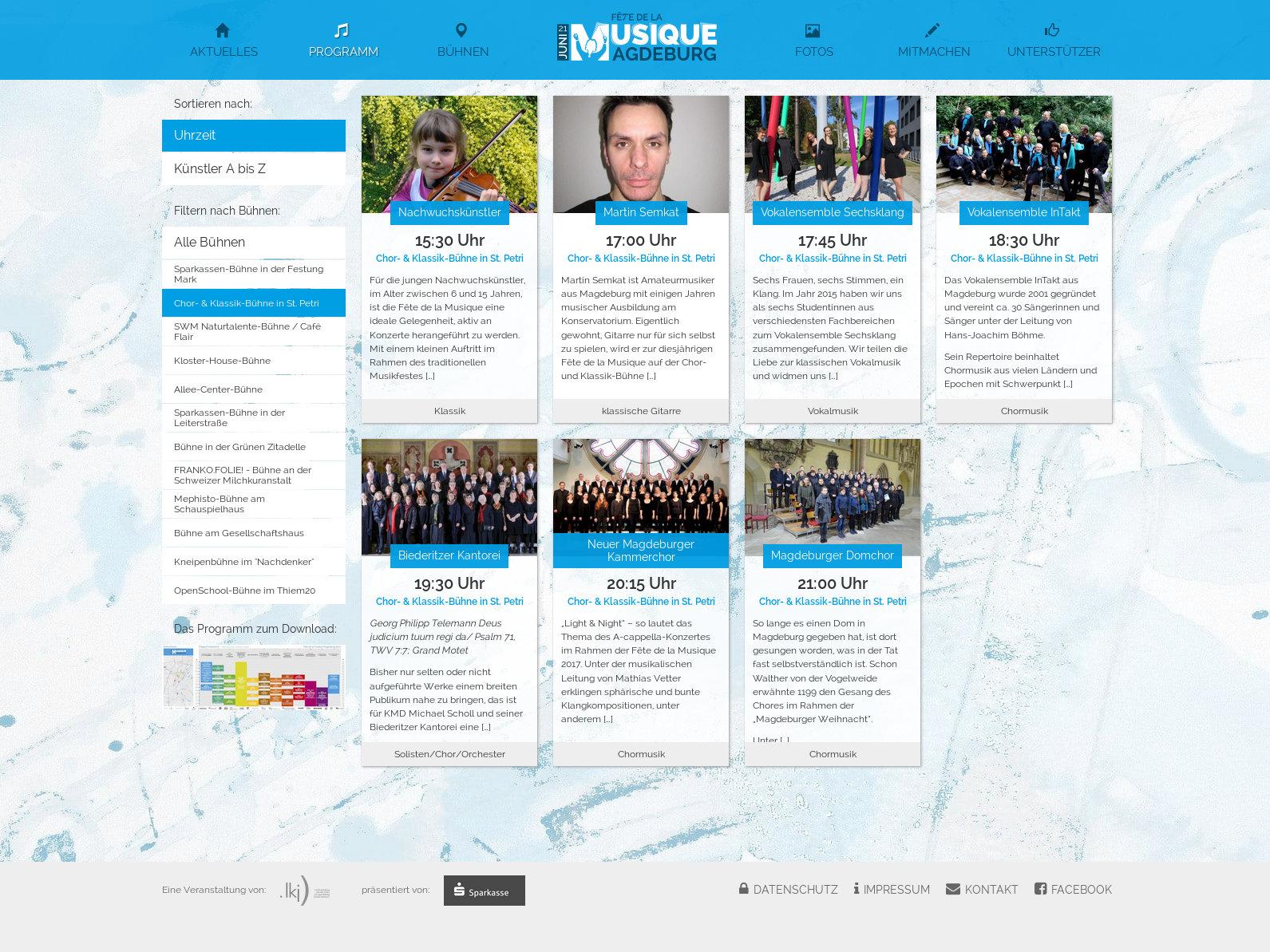 Webseite Programm – FdlM Magdeburg 2017