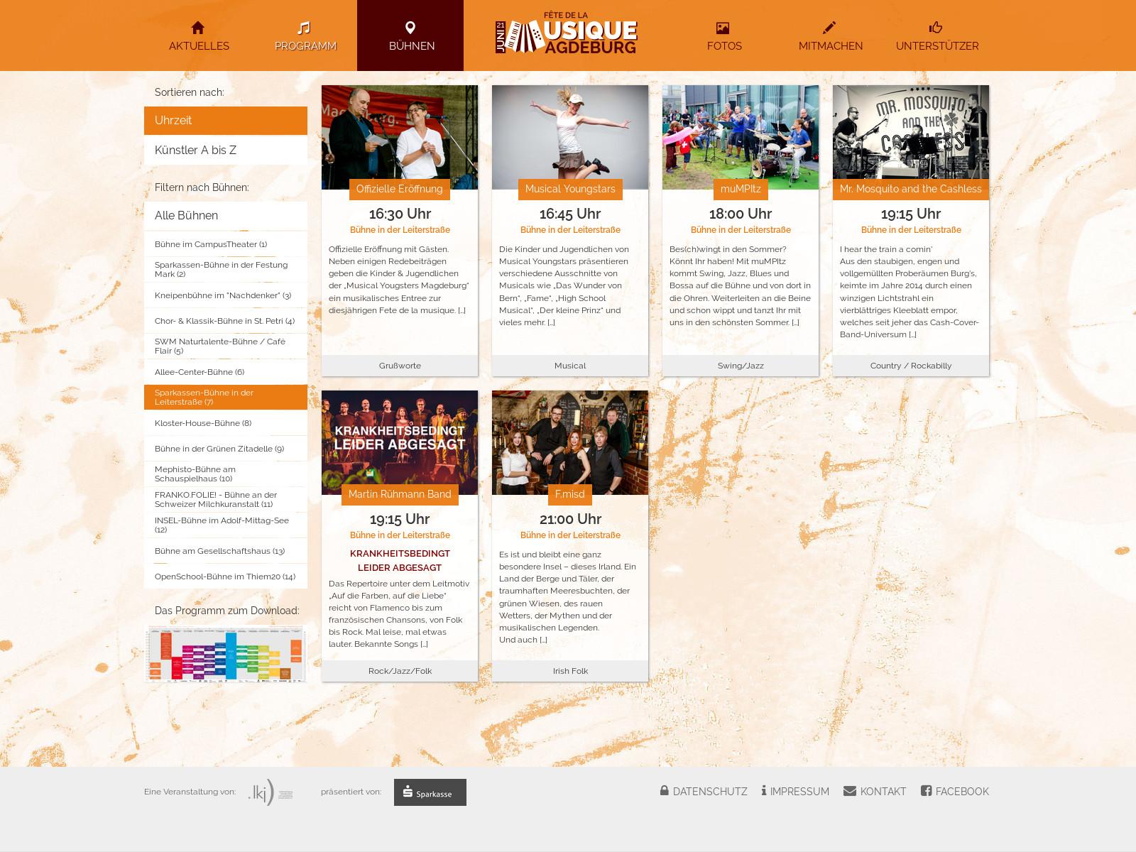 Webseite Programm – FdlM Magdeburg 2018