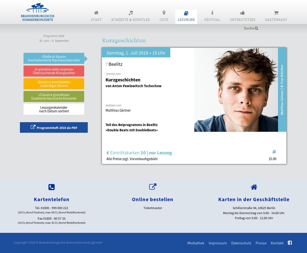 Webseite BSK 2018 – Lesungen