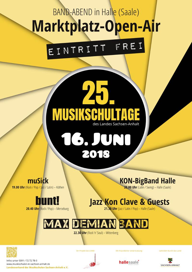 Plakat – 25. Musikschultage 2018 Marktplatz Open-Air