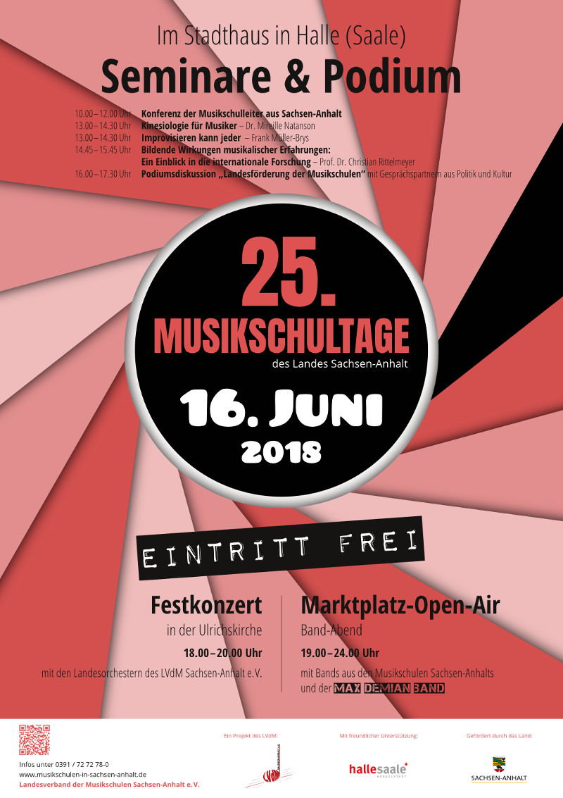 Plakat – 25. Musikschultage 2018 Stadthaus Seminare Podium