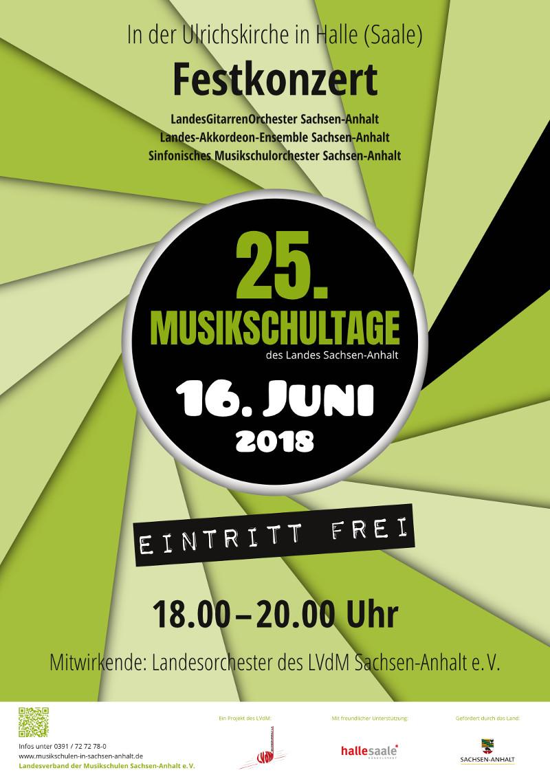 Plakat – 25. Musikschultage 2018 Ulrichskirche Festkonzert