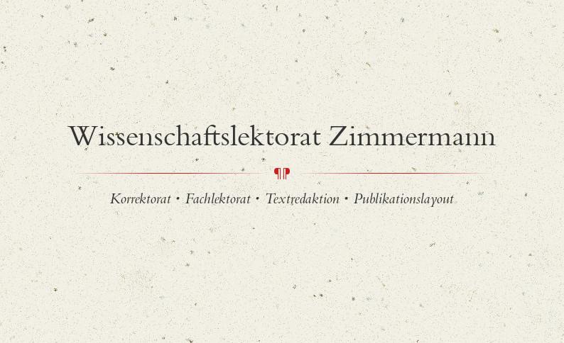 Wissenschaftslektorat Zimmermann – Logo