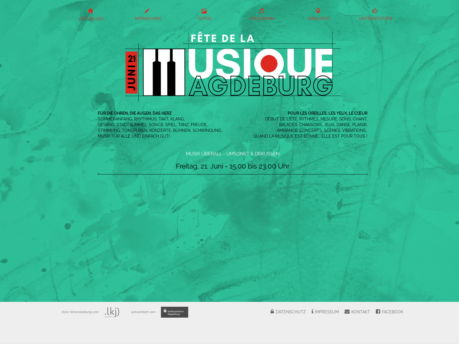 Webseite Startseite – Logo FdlM Magdeburg 2019