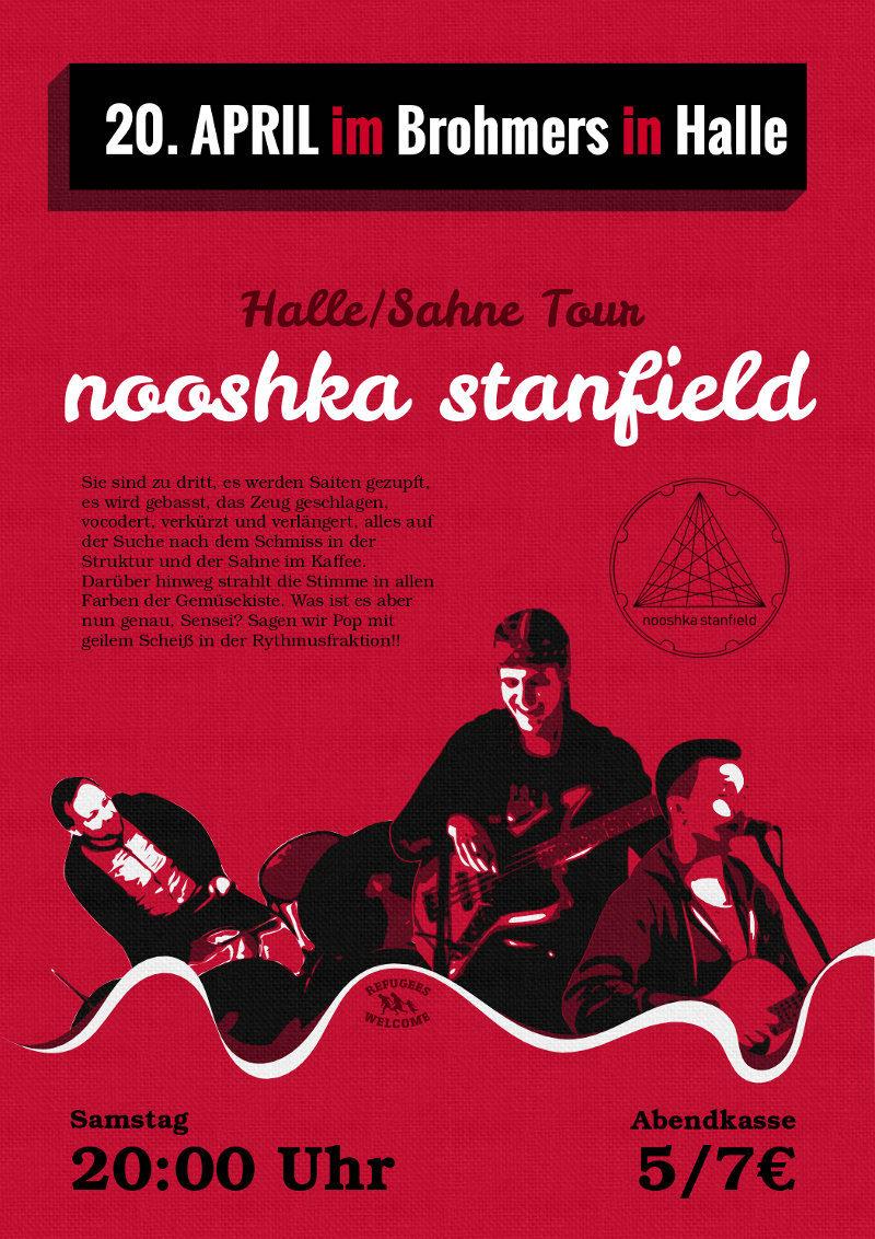 Konzertplakat – Halle-Sahne-Tour